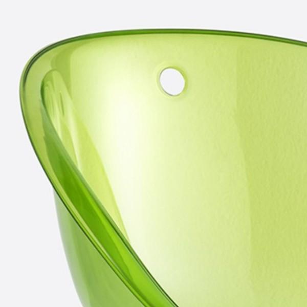 Pedrali Gliss 902 Barhocker mit grün-transparenter Sitzschale