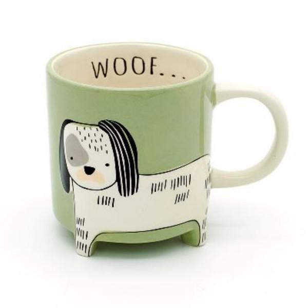 Winkee Kaffeebecher Hund Cute Animal hellgrün 16593
