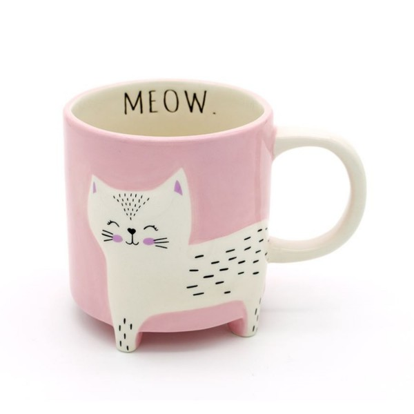 Winkee Kaffeebecher Katze Cute Animal rosa 16594
