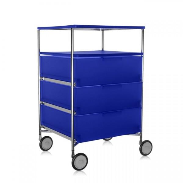 Kartell Mobil Container 3+1 mit Rollen kobaltblau 2020L2