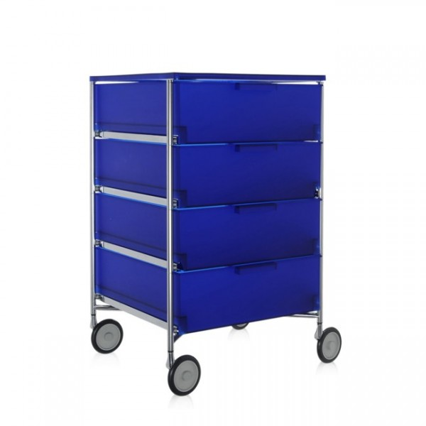 Kartell Mobil Container 4 Schübe mit Rollen kobaltblau 2024L2