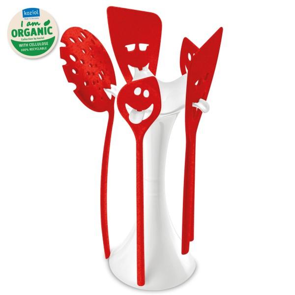 Koziol Küchentoolständer Meeting Point 6er Set organic red 3099676