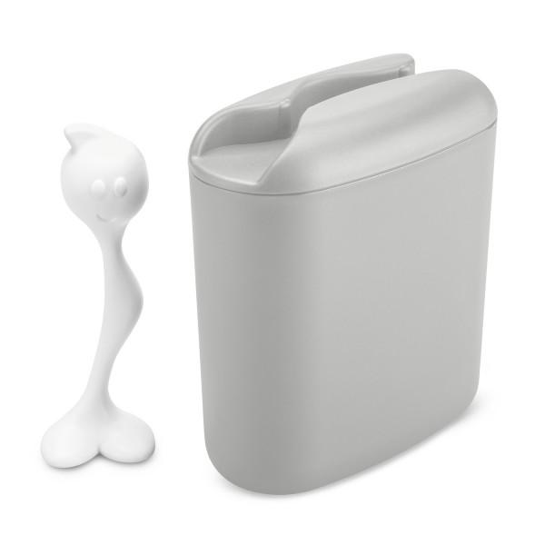 Koziol HOT STUFF L Vorratsdose 500g soft grey- cotton white 3058331