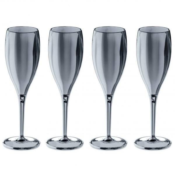 Koziol Sektglas-Set CHEERS No.1 transparent grau 100ml 3588540