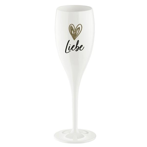 Koziol Sektglas mit Druck CHEERS No. 1 Liebe weiß 100ml 4046525