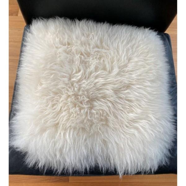 puraform Lammfell Sitzauflage naturweiß 37x37cm SK-Q01