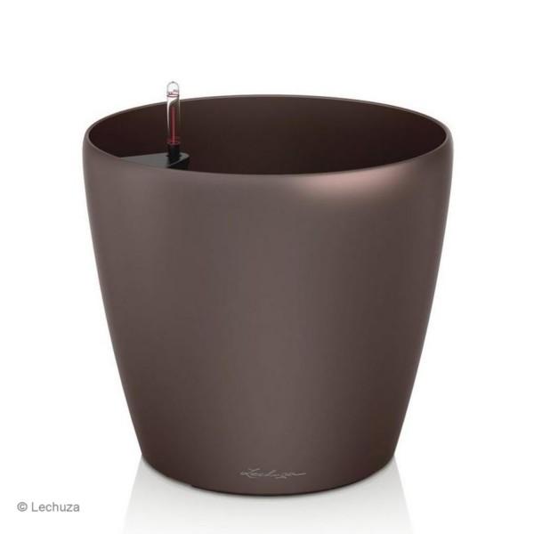 Lechuza Pflanztopf Classico 70 espresso metallic 14661
