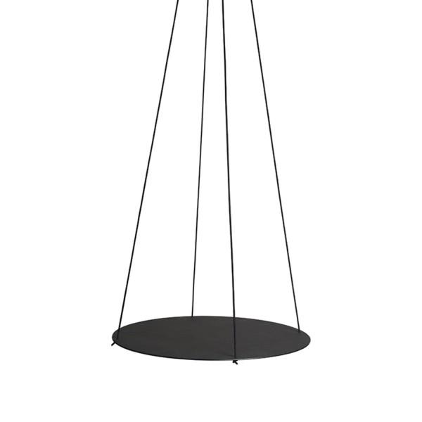 Lind DNA  Pendelkreis Tablett Pendulum Circle XL 40cm Nupo Leder/Stahl schwarz 982768