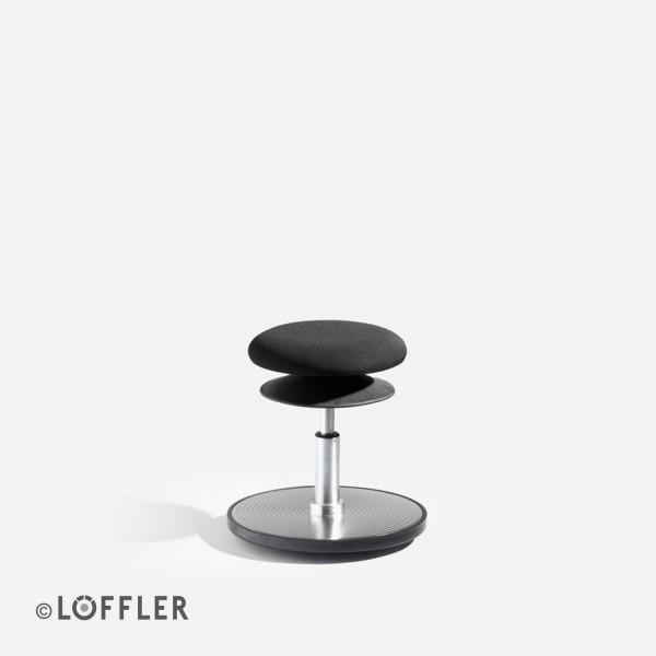 Löffler ERGO Sitzhocker/Stehhilfe mit Bodenwippe Sitz Ø 30 cm
