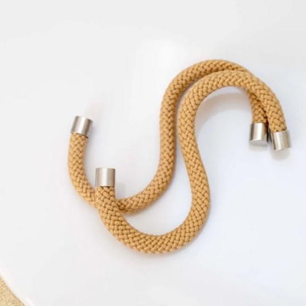 Peppermint Products Loop HOOK Textil-S-Kleiderhaken aus Seil / 5er Set sand PMP_0021_SA_00