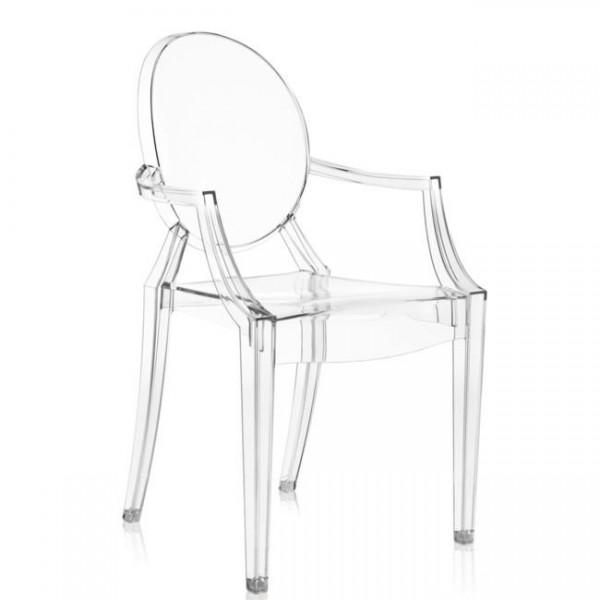 Kartell Stühle im 4er Set Louis Ghost  glasklar 4853B4