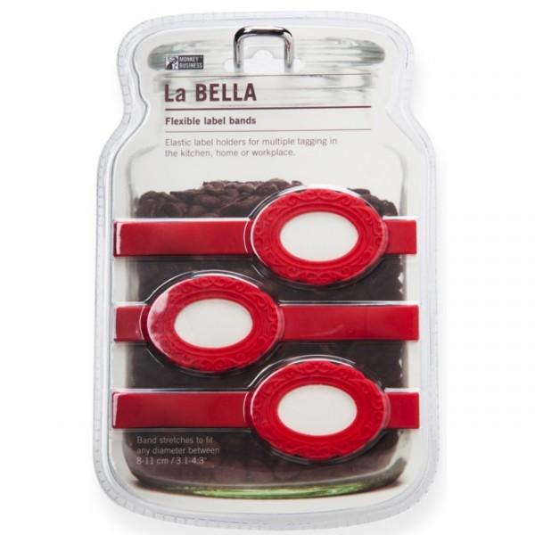 Elastische Etiketten La Bella M rot MB807