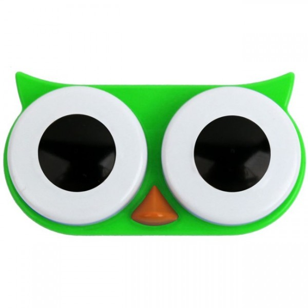 Kontaktlinsenbox Eule grün MG00AG