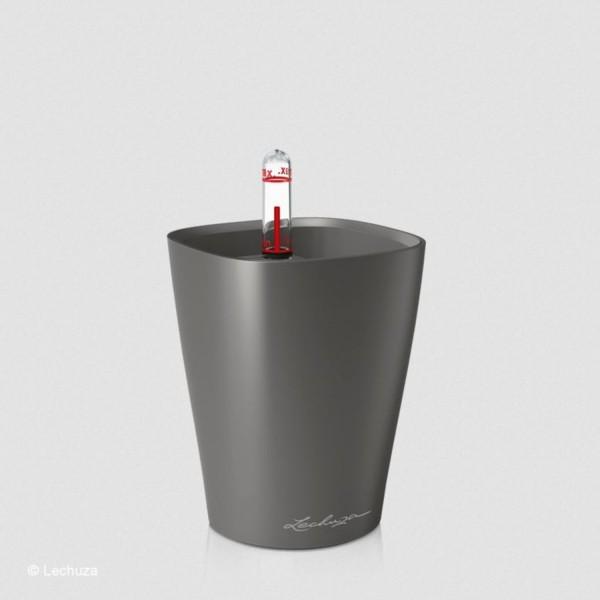 Lechuza Pflanztopf Mini Deltini anthrazit metallic 14949