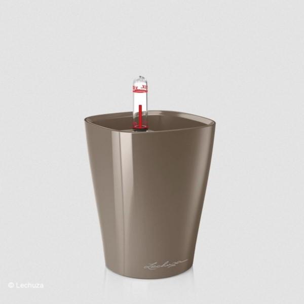Lechuza Pflanztopf Mini Deltini taupe hochglanz 14959