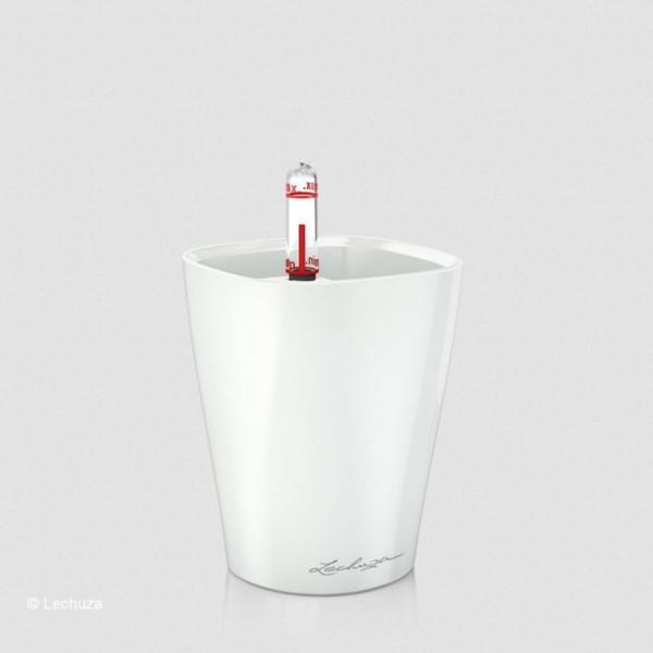 Lechuza Pflanztopf Mini Deltini weiß hochglanz 14950