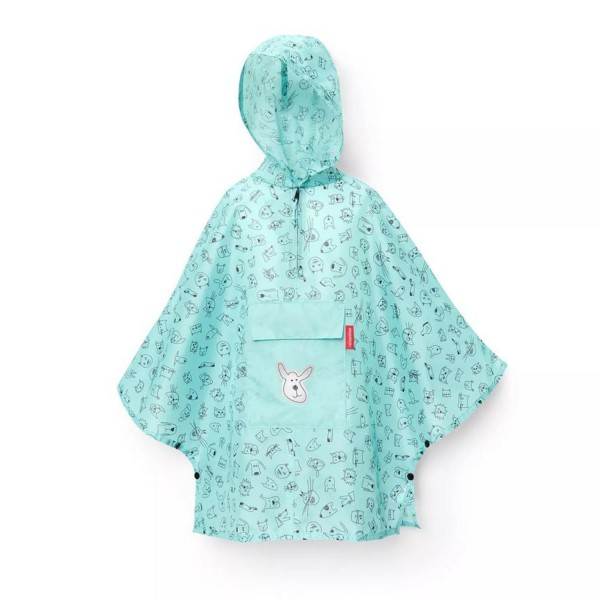 reisenthel® Mini Maxi poncho M kids cats and dogs mint IG4062