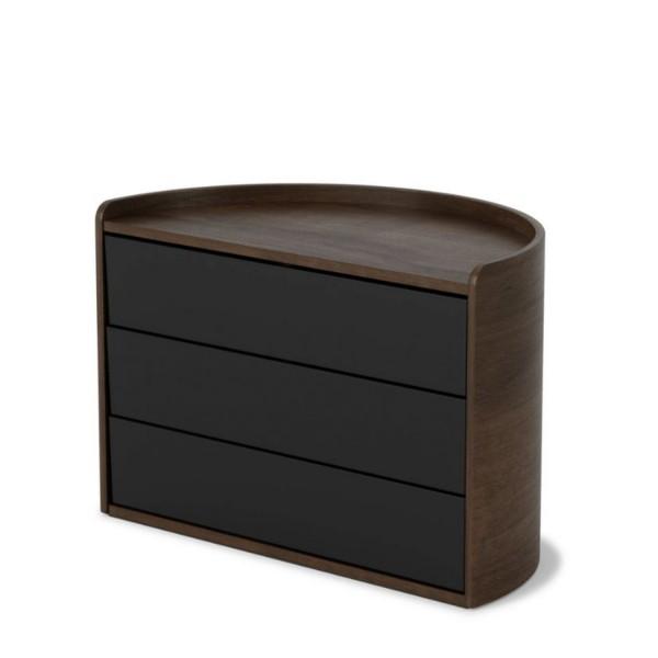 Umbra Aufbewahrungsbox Moona schwarz/walnuss 1014748-048