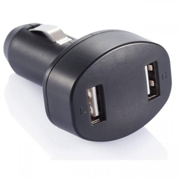 Doppel USB-Adapter fürs Auto schwarz P302.061