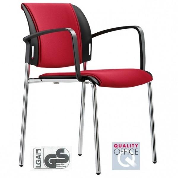 Vierbeinstuhl mit Sitz- u. Rückenpolster Passu 44