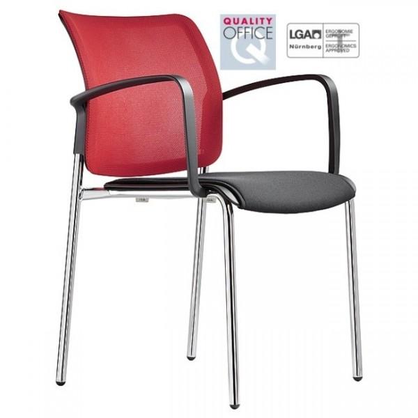 Vierbeinstuhl mit Sitzpolster Passu mesh 42
