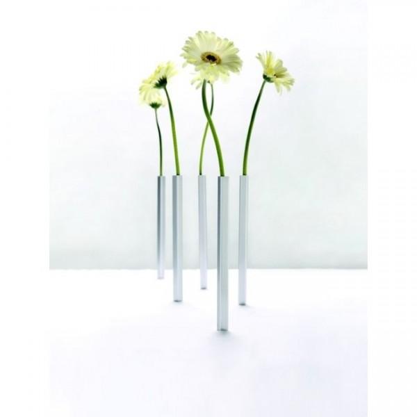 Magnetische Vase 5er Set silber PE543