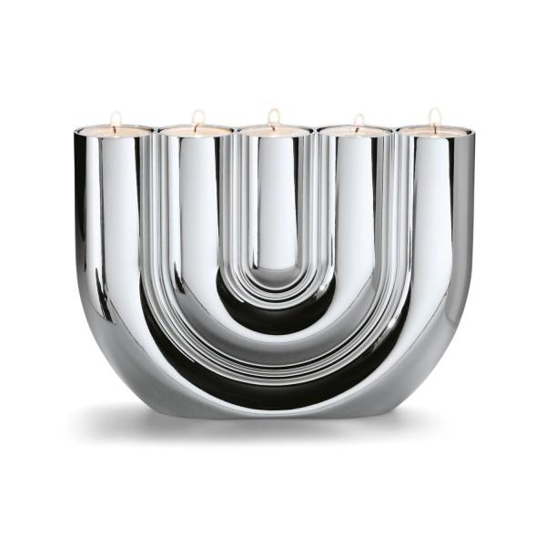 Philippi Teelichthalter Double U Chrom 123137