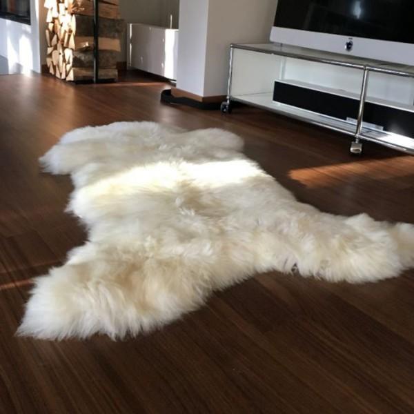 puraform Lammfell naturweiß >120cm LF01-XL