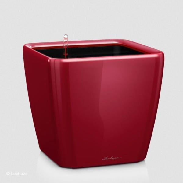 Lechuza Pflanzgefäß Quadro LS 28 scarlet rot hochglanz 16147