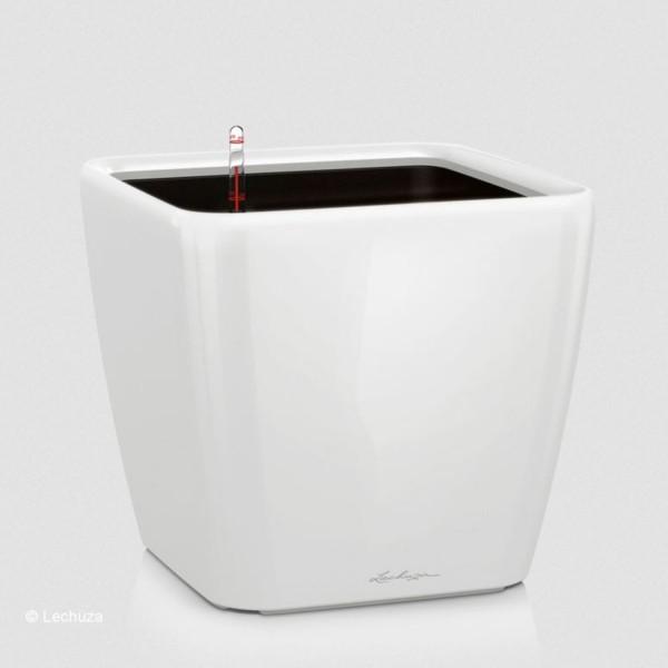 Lechuza Pflanzgefäß Quadro LS 28 weiß hochglanz 16140