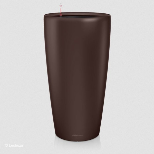 Lechuza Pflanzgefäß Rondo 40 espresso metallic 15757
