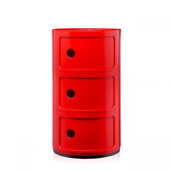 Kartell Componibili 3 Fächer rot 496710