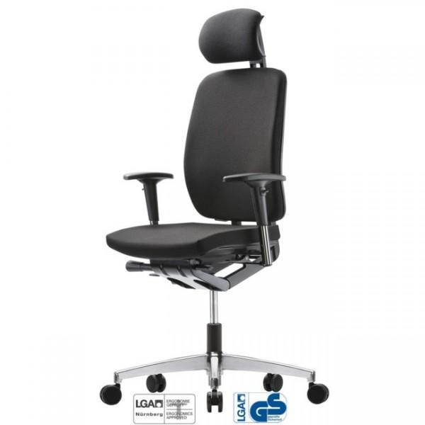 Bürodrehstuhl GLOBEline mesh 8 hohe Rückenlehne mit Nackenstütze