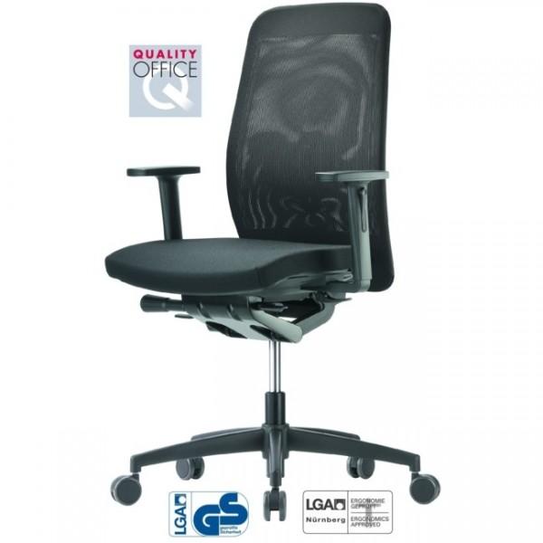 Bürodrehstuhl GLOBEline mesh 6 hohe Rückenlehne