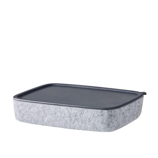 pieperconcept Box Scatola Filz grau mit Tablett 809372000