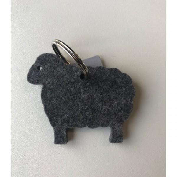 Schlüsselanhänger Schaf anthrazit