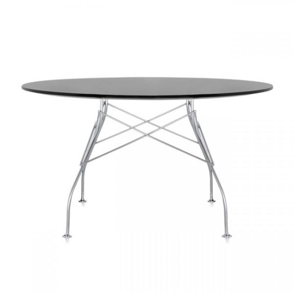 Kartell Tisch rund Glossy schwarz 45613P