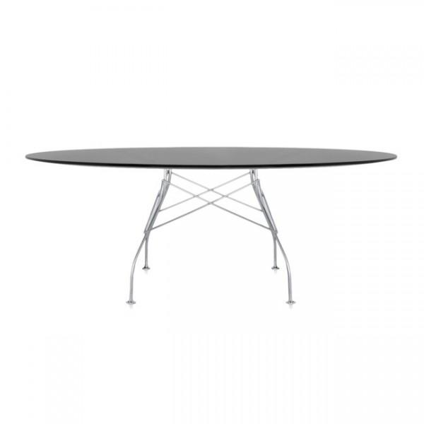 Kartell Tisch oval Glossy schwarz 45623P