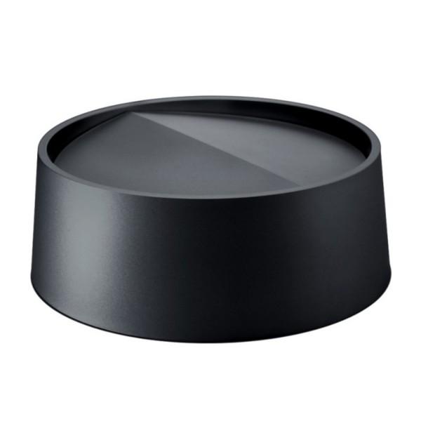 Rexite Ring mit Schwingdeckel mattschwarz für Papierkorb Status 21.01.NO