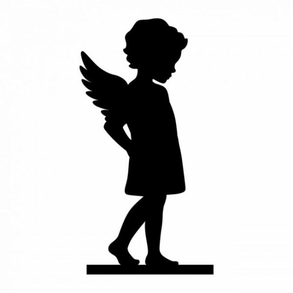 """Ersatz Silhouette Figur """"Engel"""" für Kresseschale/ Keksschale"""