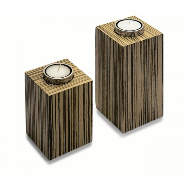 Teelichthalter klein Zebrano 132001