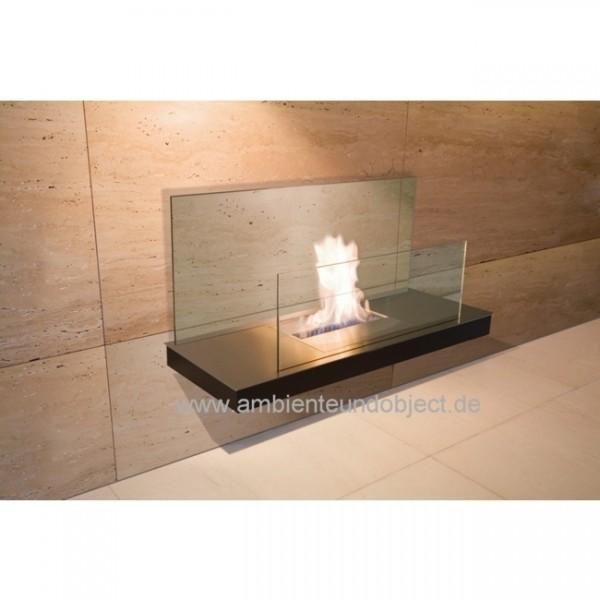 Kamin Wallflame II Stahl und Glas schwarz 541b