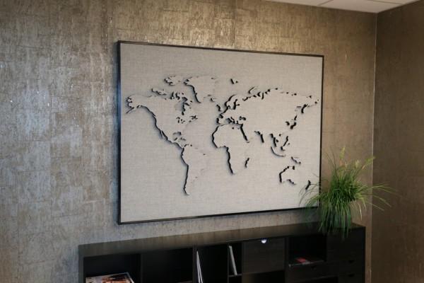 Göttesons Schallabsorber Weltkarte TELL-US ECOSUND®