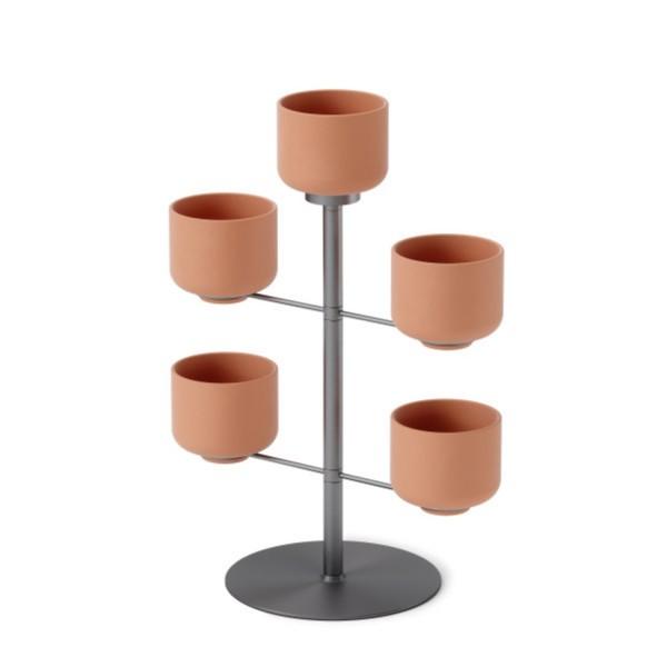 Umbra Blumenständer Terrapotta Planter Titanium 1015664-624