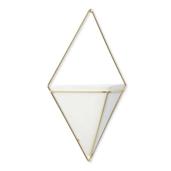 Umbra Trigg Wandvase groß weiß/gold 470752-524