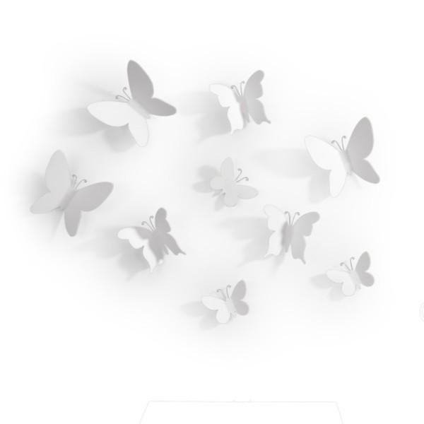 Umbra Wanddeko Schmetterlinge Mariposa weiss 470130-660