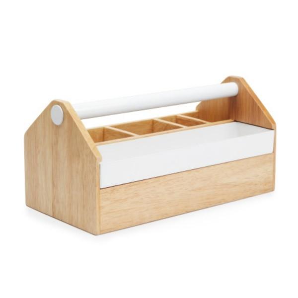 Umbra Aufbewahrungsbox TOTO Holz natur / Metall weiß 290240-668