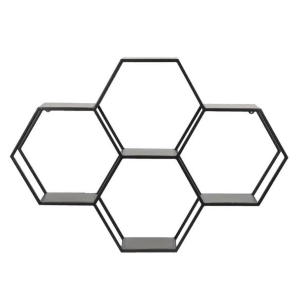 Wandregal 106x20x74,5cm HUAL matt schwarz 6763312