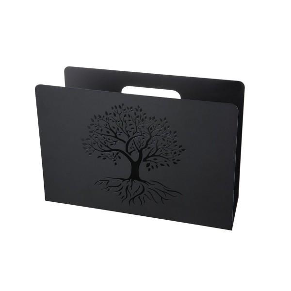 Metall Zeitungsständer Lebensbaum schwarz 67253