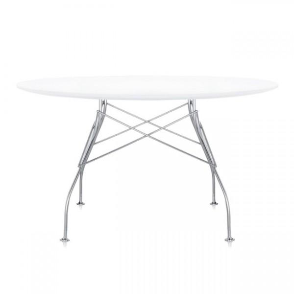 Kartell Tisch rund Glossy zinkweiß 45712M